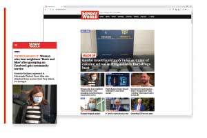 The Sundayworld.com website and app were launched on 13 October.